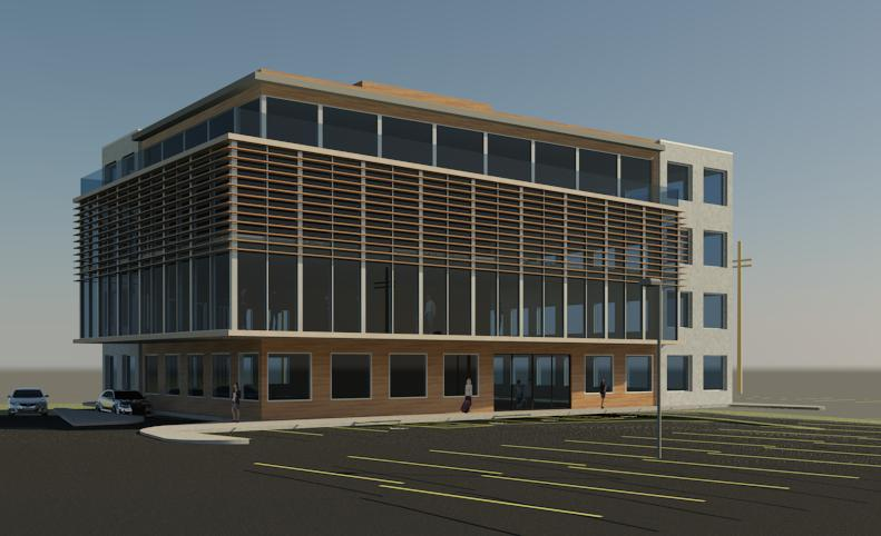 Torbay office building open architects for Office building exterior design